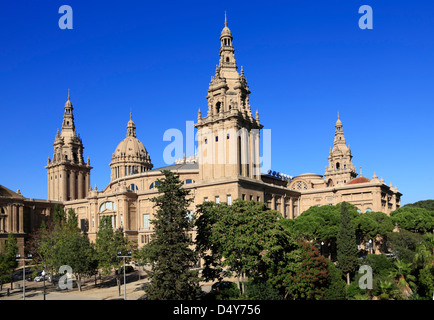 Museo Nacional d Art de Catalunya, Palau Nacional, Barcelona, Spain - Stock Photo