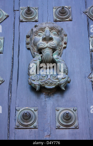 Door of cathedral of Santiago de Compostela, Galizia, Spain - Stock Photo