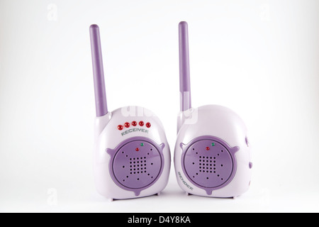 baby walkie-talkie isolated on white background - Stock Photo