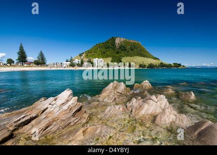 Mount Maunganui Beach, New Zealand - Stock Photo