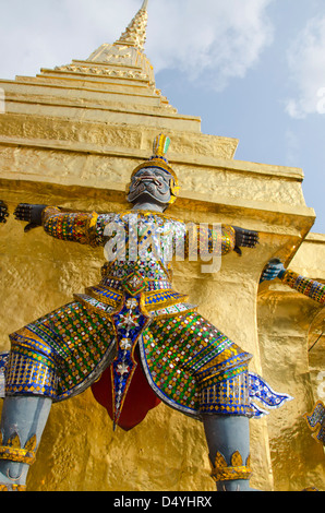 Thailand, Bangkok. The Grand Palace, established in 1782. Upper Terrace monuments. - Stock Photo