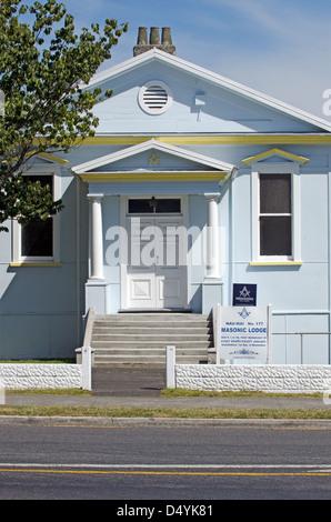 The Freemasonry Nau Mai Lodge on Feb 21 2013 in Taumarunui,NZ. - Stock Photo