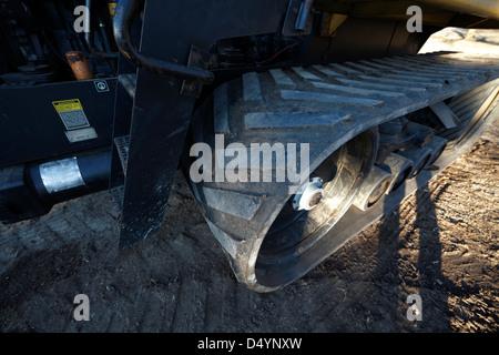 Track on a crawler. - Stock Photo