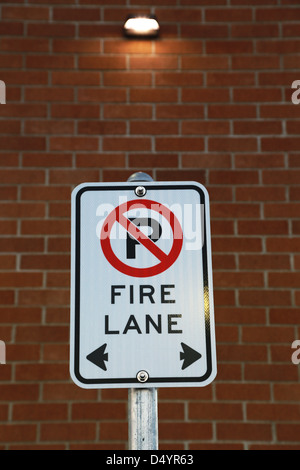 No Parking Fire Lane - Stock Photo
