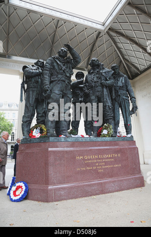 RAF Bomber Command Memorial at Green Park in London, England - Stock Photo