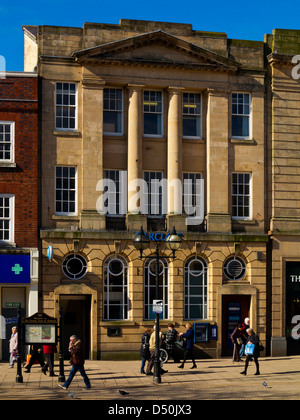 Georgian facade of Barclays Bank branch in Market Square Stafford Staffordshire England UK - Stock Photo