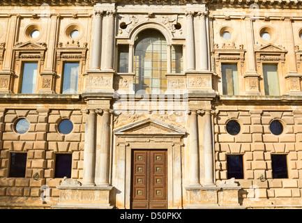 Palace of Charles V. Alhambra, Granada. Andalusia, Spain. - Stock Photo