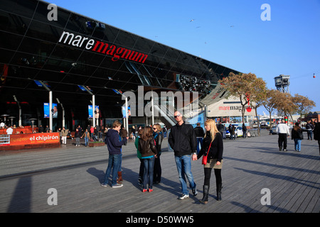 Mare Magnum, shopping mall and entertainment district, Port Vell, Barcelona, Spain - Stock Photo