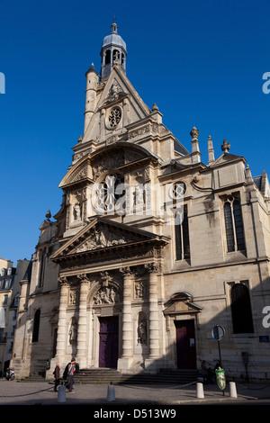 Church Saint Etienne du mont, Paris, Ile de France, France - Stock Photo