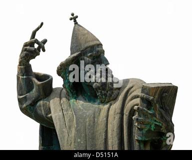 Split, statue of Gregory of Nin by Ivan Mestrovic - Stock Photo