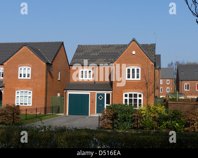 Detached new-build house - Stock Photo
