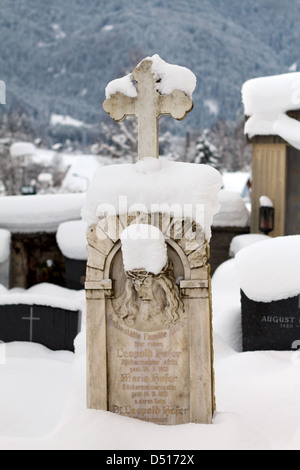 Afritz am See, Austria, sent schneiter grave stone in the cemetery in Afritz - Stock Photo