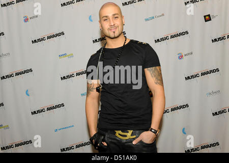 March 20, 2013. Toronto, Canada. Canadian Radio Music Awards press room photo. In picture, Massari. (DCP/GMP/N8N) - Stock Photo