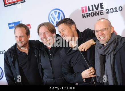 German hip hop group 'Die Fantastischen Vier' attend the '1Live Krone' radio award show inBochum, Germany, 02 Deecember - Stock Photo