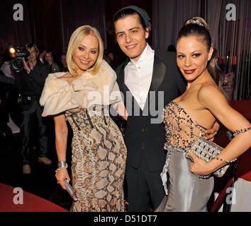 Ornella Muti, italian actress (l) , her son Andrea and her daughter Naike Rivelli (r) attend a Charity Gala celebrating - Stock Photo