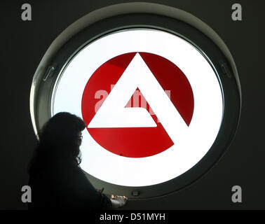 A file picture dated 24 May 2007 shows the logo of the German 'Agentur fuer Arbeit' employment agency in Gelsenkirchen, - Stock Photo