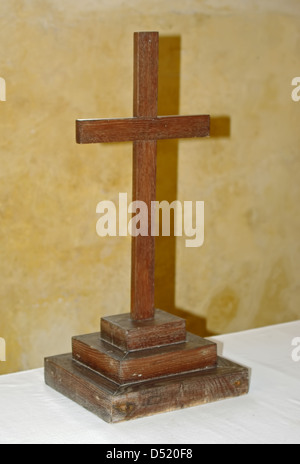 a wooden cross - Stock Photo