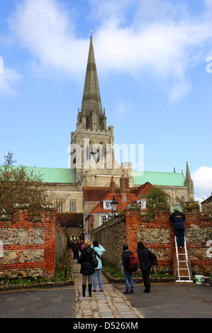 Chichester Cathedral in West Sussex UK - Stock Photo