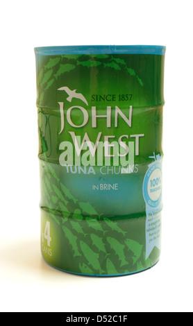 John West Tuna Chunks In Brine. - Stock Photo