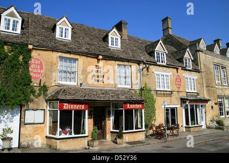 Old Stocks Hotel Stow on the Wold Gloucestershire England UK - Stock Photo