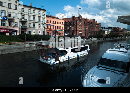 Brda river, city Bydgoszcz, Poland - Stock Photo