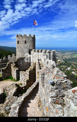 Castelo dos Mouros (Castle of the Moors), Sintra, Portugal - Stock Photo