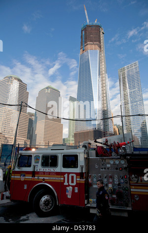 New York City, USA, is currently under construction One World Trade Center at Ground Zero
