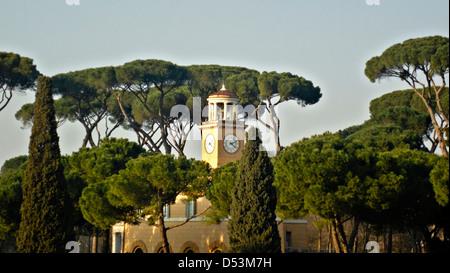 Casino dell'Orologio in Villa Borghese gardens, Rome, Italy, Europe - Stock Photo