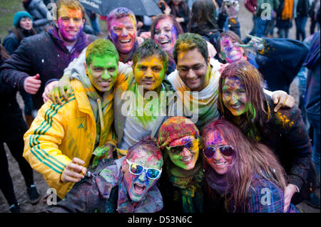London, UK. 23rd March 2013. the Holi Spring Festival of Colour takes place at Orleans House Gallery in Twickenham. - Stock Photo