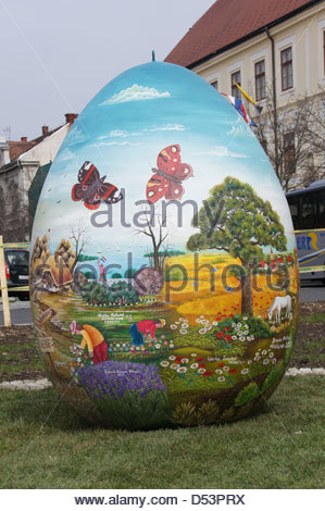 Zagreb,Croatia. 23rd March 2013. Croatian Easter from the Heart next to the Zagreb Cathedral. - Stock Photo