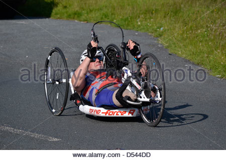 Team True Spirit competitor taking part in the Bolton Ironman, July 2012 - Stock Photo