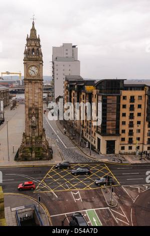 The Albert Memorial Clock Tower, Belfast - Stock Photo