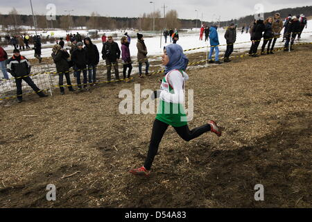Bydgoszcz, Poland 24th, March 2013 IAAF World Cross Country Chamiponships. Junior Race Woman. Pictured: - Stock Photo