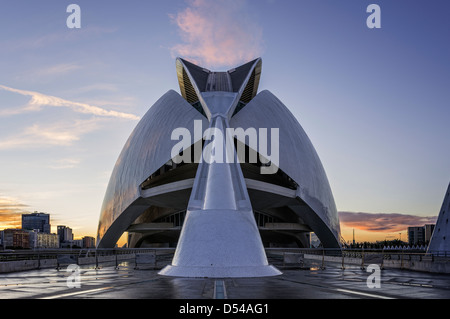 Palau de les Arts Reina Sofia (Palace of the Arts) City of the Arts and Sciences Valencia - Stock Photo