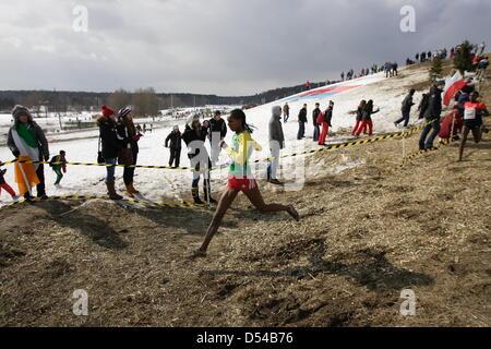 Bydgoszcz, Poland 24th, March 2013 IAAF World Cross Country Chamiponships. Senior Race Woman. - Stock Photo