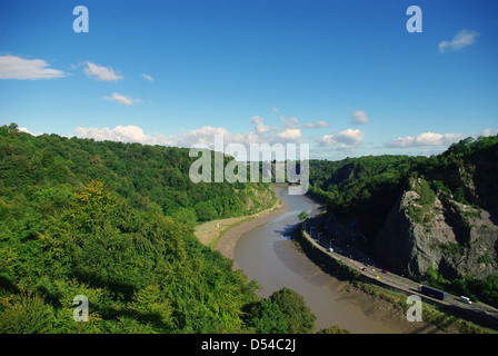 View from the Clifton Suspension Bridge, Bristol, UK - Stock Photo