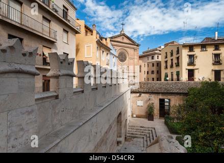 On the wall of La Llotja de Seda in Valencia - Stock Photo