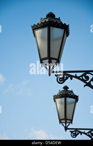 Traditional street lamps, Lisbon - Stock Photo