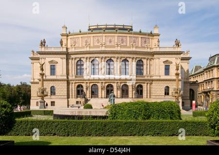 The Rudolfinum Concert Hall, Prague, Czech Republic - Stock Photo