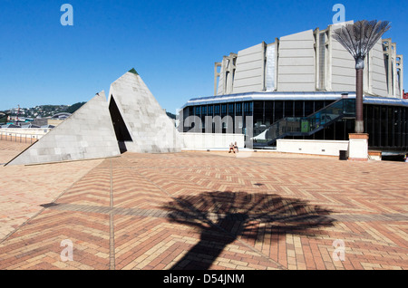 Wellington's Civic Square in Wellington New Zealand - Stock Photo