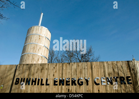 Bunhill Energy Centre supplying combined heat and power CHP to local homes Finsbury, London Borough of Islington, - Stock Photo