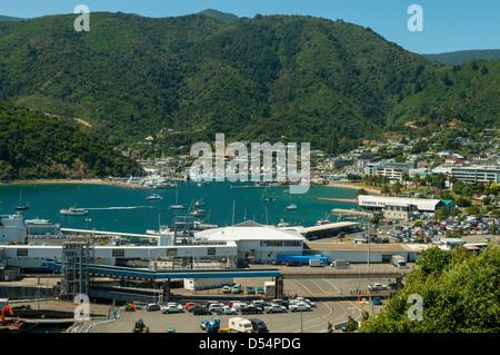 Picton Harbour, Marlborough, New Zealand - Stock Photo