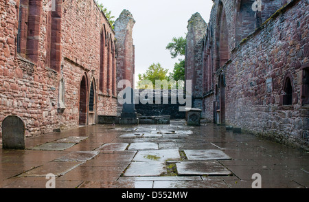 Beauly Priory, the ruins of a priory established in 1230 at Beauly, Inverness, Scotland - Stock Photo