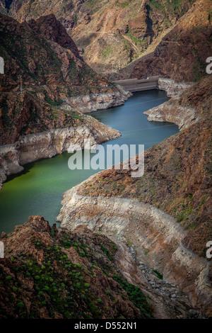 Acusa little dam on gran canaria island - Stock Photo