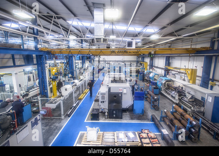 Overhead view of factory - Stock Photo