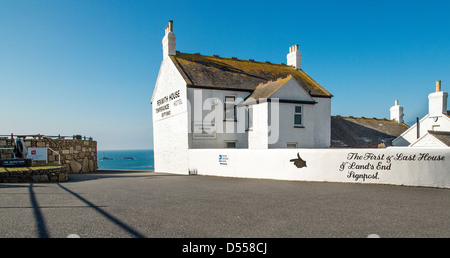 The First & Last House in England situated at Lands End, Cornwall. - Stock Photo