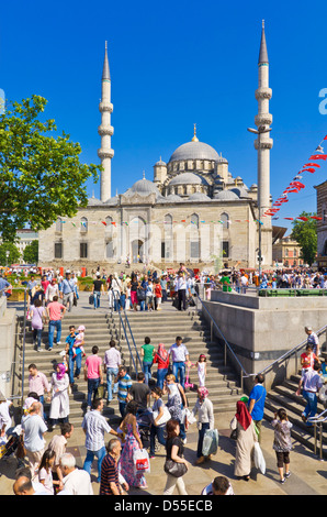 Yeni Cami (New Mosque), Eminonu, Istanbul, Turkey - Stock Photo