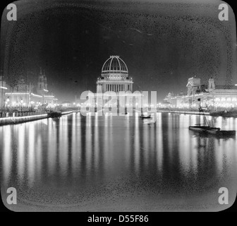 World's Columbian Exposition: Grand Basin, Chicago, United States, 1893. - Stock Photo