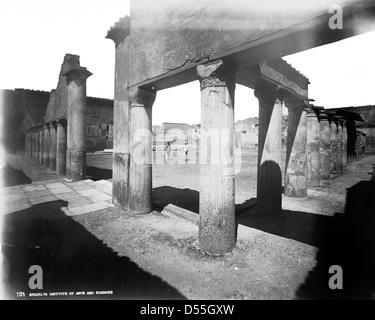 Pompeii: View from Baths of Stabiae, Pompeii. - Stock Photo