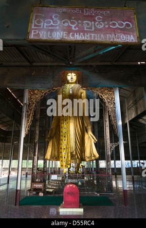 Buddha Statue, Mandalay Hill, Mandalay, Myanmar, Asia - Stock Photo